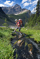 The Highline trail, Alberta and British Columbia, Canada, August 2008. The twin lakes are a littel gem on the route to Gibbon pass. The Banff Highline trail can be hiked in 7 days and runs through Banff National park as well as Assiniboine Provincial park. Photo by Frits Meyst/Adventure4ever.com