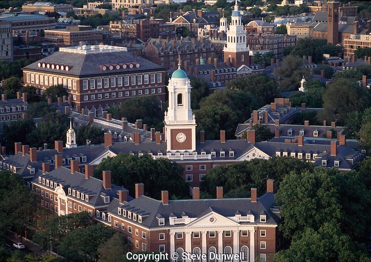 Eliot House & Lowell House aerial, Harvard, Cambridge, MA