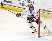 Ben Smith (BC - 12) - The Boston College Eagles defeated the University of Massachusetts-Amherst Minutemen 5-2 on Saturday, March 13, 2010, at Conte Forum in Chestnut Hill, Massachusetts, to sweep their Hockey East Quarterfinals matchup.