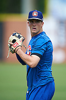 Chattanooga Lookouts pitcher Nick Burdi (15) during practice before a game against the Jacksonville Suns on April 30, 2015 at AT&T Field in Chattanooga, Tennessee.  Jacksonville defeated Chattanooga 6-4.  (Mike Janes/Four Seam Images)