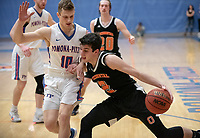 #2 Jacob Adler<br /> The Occidental College men's basketball team plays against Pomona-Pitzer in the SCIAC Tournament Championship on Saturday, Feb. 23, 2019 in Claremont. Oxy lost, 68-45.<br /> Oxy finishes with its best overall record since 2007-08 at 22-5 overall, and went 12-4 in SCIAC play for the second season in a row.<br /> (Photo by Marc Campos, Occidental College Photographer)