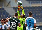 Dani Gimenez (RC Deportivo de la Coruna) blocks the ball during La Liga Smartbank match round 39 between Malaga CF and RC Deportivo de la Coruna at La Rosaleda Stadium in Malaga, Spain, as the season resumed following a three-month absence due to the novel coronavirus COVID-19 pandemic. Jul 03, 2020. (ALTERPHOTOS/Manu R.B.)