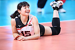Kotoe Inoue (JPN), <br /> SEPTEMBER 1, 2018 - Volleyball : <br /> Women's Bronze Medal match<br /> between Japan 1-2 Korea <br /> at Gelora Bung Karno Indoor Tennis Stadium <br /> during the 2018 Jakarta Palembang Asian Games <br /> in Jakarta, Indonesia. <br /> (Photo by Naoki Nishimura/AFLO SPORT)