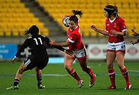 Amanda Thornborough in action during the 2017 International Women's Rugby Series rugby match between the NZ Black Ferns and Canada at Westpac Stadium in Wellington, New Zealand on Friday, 9 June 2017. Photo: Dave Lintott / lintottphoto.co.nz