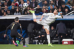Cristiano Ronaldo of Real Madrid catches the ball during the match Real Madrid vs Napoli, part of the 2016-17 UEFA Champions League Round of 16 at the Santiago Bernabeu Stadium on 15 February 2017 in Madrid, Spain. Photo by Diego Gonzalez Souto / Power Sport Images