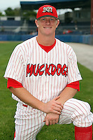 Sept. 5th, 2007:  David Carpenter of the Batavia Muckdogs, Short-Season Class-A affiliate of the St. Louis Cardinals at Dwyer Stadium in Batavia, NY.  Photo by:  Mike Janes/Four Seam Images