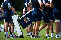 A general view of a Bath Rugby branded tackle shield. Bath Rugby pre-season training session on August 9, 2016 at Farleigh House in Bath, England. Photo by: Patrick Khachfe / Onside Images