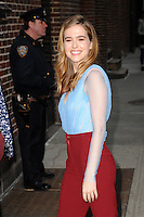 www.acepixs.com<br /> February 27, 2017 New York City<br /> <br /> Zoey Deutch arriving to tape an appearance on 'The Late Show with Stephen Colbert' on February 27, 2017 in New York City.<br /> <br /> Credit: Kristin Callahan/ACE Pictures<br /> <br /> Tel: (646) 769 0430<br /> e-mail: info@acepixs.com