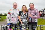 Finnbarr Walsh, Launa Keane andMichael Flanagan at the St Kieran's GAA Cycle Tour on Sunday starting in the  Desmonds GAA Grounds