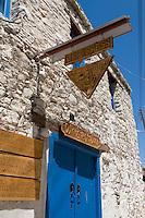 Zypern (Süd), Omodos im Troodos-Gebirge, Haus mit alter Weinpresse