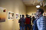 Gallery walk of National Geographic Young Explorers work on exhibit at the Aa Haa West Gallery during the Mountainfilm Festival in Telluride, Colorado on May 22, 2015.