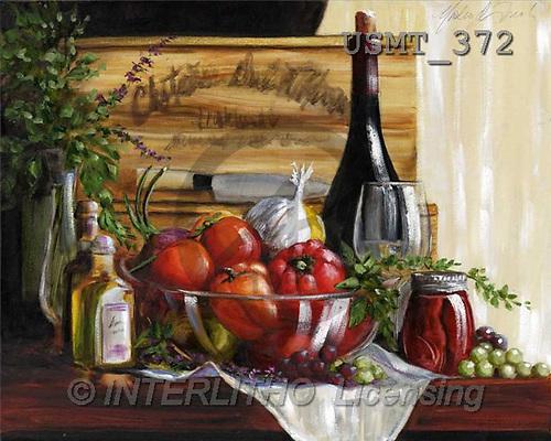 Malenda, STILL LIFES, paintings, bottle, fruits(USMT372,#I#) Stilleben, naturaleza muerta, illustrations, pinturas