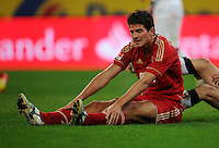 FUSSBALL   1. BUNDESLIGA   SAISON 2011/2012   18. SPIELTAG Borussia Moenchengladbach - FC Bayern Muenchen    20.01.2012 Mario Gomez (Bayern) ist enttaeuscht xxNOxMODELxRELEASExx
