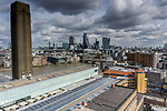 City view of London from the Tate Modern building
