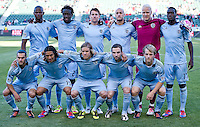 CARSON, CA - April 1, 2012: Sporting KC starting lineup for the Chivas USA vs Sporting KC match at the Home Depot Center in Carson, California. Final score Sporting KC 1, Chivas USA 0.