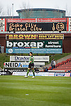 Stoke City 2 Bristol City 1, 19th April 2008. Stoke score early, the Bristol City goalkeeper in front of electronic scoreboard and advertisementsPhoto by Paul ThompsonStoke City 2 Bristol City 1, 19/04/2008. 	Britannia Stadium, Championship. Photo by Paul Thompson.