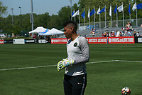 Kansas City, MO - Saturday May 13, 2017:  Adrianna Franch warming up prior to a regular season National Women's Soccer League (NWSL) match between FC Kansas City and the Portland Thorns FC at Children's Mercy Victory Field.