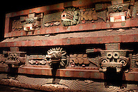 Replica of the Temple of Quetzalcoatl (Plumed Serpent) in the Sala Teotihuacan, National Museum of Anthropology, Chapultepec Park, Mexico City