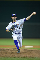 Winston-Salem Dash relief pitcher Louie Lechich (21) in action against the Buies Creek Astros at BB&T Ballpark on April 15, 2017 in Winston-Salem, North Carolina.  The Astros defeated the Dash 13-6.  (Brian Westerholt/Four Seam Images)