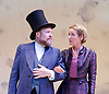 Lady Anna All At Sea <br /> at Park Theatre, London, Great Britain <br /> press photocall <br /> 19th August 2015 <br /> Caroline Langrishe as Countess Lovel <br /> Tim Frances as Anthony Trollope <br /> <br /> Photograph by Elliott Franks <br /> Image licensed to Elliott Franks Photography Services