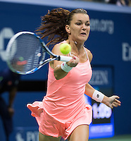 AGNIESZKA RADWANSKA (POL)<br /> <br /> TENNIS - THE US OPEN - FLUSHING MEADOWS - NEW YORK - ATP - WTA - ITF - GRAND SLAM - OPEN - NEW YORK - USA - 2016  <br /> <br /> <br /> <br /> &copy; TENNIS PHOTO NETWORK