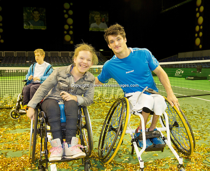 Februari 14, 2015, Netherlands, Rotterdam, Ahoy, ABN AMRO World Tennis Tournament, Final wheelchair men Gustavo Fernandez (ARG)   <br /> Photo: Tennisimages/Henk Koster