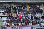 Travelling Bologna fans pictured at the stadium during the Serie A match at Stadio Grande Torino, Turin. Picture date: 12th January 2020. Picture credit should read: Jonathan Moscrop/Sportimage