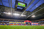 Solna 2015-10-12 Fotboll EM-kval , Sverige - Moldavien :  <br /> Vy &ouml;ver Friends Arena under lineup inf&ouml;r matchen mellan Sverige och Moldavien <br /> (Photo: Kenta J&ouml;nsson) Keywords:  Sweden Sverige Solna Stockholm Friends Arena EM Kval EM-kval UEFA Euro European 2016 Qualifying Group Grupp G Moldavien Moldova inomhus interi&ouml;r interior supporter fans publik supporters