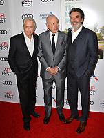 "LOS ANGELES, CA. November 10, 2018: Michael Douglas, Alan Arkin & Chuck Lorre at the AFI Fest 2018 world premiere of ""The Kominsky Method"" at the TCL Chinese Theatre.<br /> Picture: Paul Smith/Featureflash"
