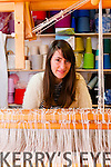 Fiadh Durham, from Handwoven Design, at her workshop in Main Street, Dingle.