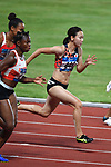 Chisato Fukushima (JPN), <br /> AUGUST 25, 2018 - Athletics : Women's 100m ROUND 1 at Gelora Bung Karno Main Stadium during the 2018 Jakarta Palembang Asian Games in Jakarta, Indonesia. <br /> (Photo by MATSUO.K/AFLO SPORT)