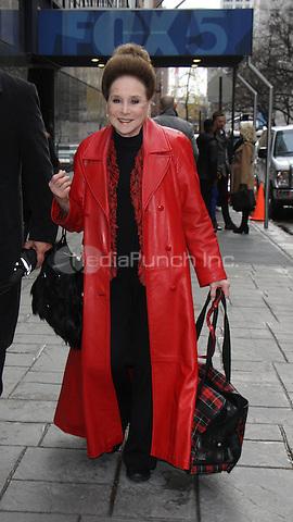 NEW YORK, NY December 05:  Cindy Adams at Good Day New York  in New York .December 05, 2016. Credit:RW/MediaPunch
