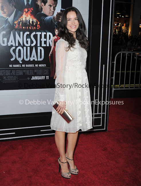 Abigail Spencer  at Warner Bros Pictures' L.A. Premiere of Gangster Squad held aat The Grauman's Chinese Theater in Hollywood, California on January 07,2013                                                                   Copyright 2013 Hollywood Press Agency