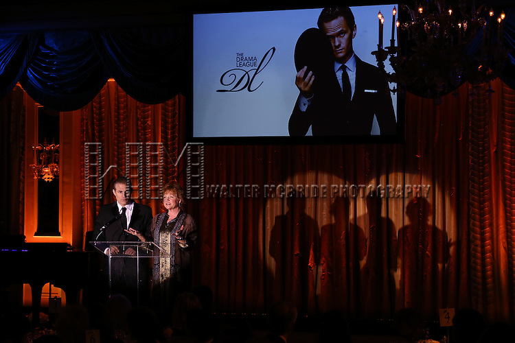 Marc Kudisch and Becky Ann Baker during the Drama League's 30th Annual 'Musical Celebration of Broadway' honoring Neil Patrick Harris at the Pierre Hotel on February 3, 2014 in New York City.