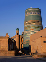 Kalta Minor Minarett , Xiva, Usbekistan, Asien, UNESCO-Weltkulturerbe<br />