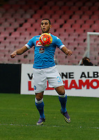 Napoli's Faouzi Ghoulam controls the ball during the  italian serie a soccer match,between SSC Napoli and Empoli      at  the San  Paolo   stadium in Naples  Italy , January 31, 2016
