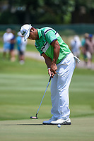 Hideki Matsuyama (JPN) watches his putt on 12 during round 2 of the WGC FedEx St. Jude Invitational, TPC Southwind, Memphis, Tennessee, USA. 7/26/2019.<br /> Picture Ken Murray / Golffile.ie<br /> <br /> All photo usage must carry mandatory copyright credit (© Golffile | Ken Murray)