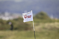 Wales Golf on the flag at  the 3rd green during Round 2 Singles of the Men's Home Internationals 2018 at Conwy Golf Club, Conwy, Wales on Thursday 13th September 2018.<br /> Picture: Thos Caffrey / Golffile<br /> <br /> All photo usage must carry mandatory copyright credit (&copy; Golffile | Thos Caffrey)