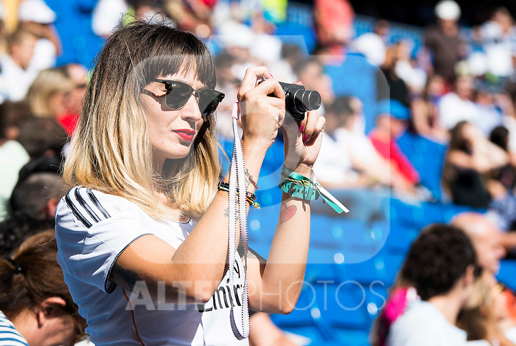 Supporters of Real Madrid before a match of La Liga Santander at Santiago Bernabeu Stadium in Madrid. October 02, Spain. 2016. (ALTERPHOTOS/BorjaB.Hojas)