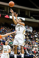 February 25, 2010:     Jacksonville guard Travis Cohn (1) goes up for a shot during Atlantic Sun Conference action between the Jacksonville Dolphins and the Campbell Camels at Veterans Memorial Arena in Jacksonville, Florida.  Jacksonville defeated Campbell 65-52.