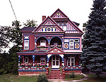A colorful Queen Anne Victorian designed in 1881 by Wells S. Dickinson. It is located in the Adirondack Mountains near the Canadian border in Malone, New York.