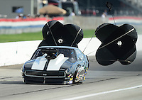 Aug. 31, 2012; Claremont, IN, USA: NHRA pro mod driver Donnie Martin during qualifying for the US Nationals at Lucas Oil Raceway. Mandatory Credit: Mark J. Rebilas-
