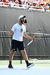 WINSTON SALEM, NC - MAY 22: Petros Chrysochos of the Wake Forest Demon Deacons celebrates a point against the Ohio State Buckeyes during the Division I Men's Tennis Championship held at the Wake Forest Tennis Center on the Wake Forest University campus on May 22, 2018 in Winston Salem, North Carolina. (Photo by Jamie Schwaberow/NCAA Photos via Getty Images)