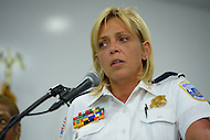 September 16, 2013  (Washington, DC)  Metropolitan Police Chief Cathy Lanier and other officials updated the media during a news conference regarding the Navy Yard shooting September 16, 2013.  (Photo by Don Baxter/Media Images International)