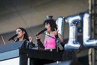 Milk and Bone  performs at the Festival d'ete de Quebec (Quebec Summer Festival) on July 13, 2018.