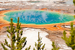 Grand Prismatic Spring in Yellowstone National Park, Wyoming.