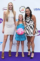 Naomi Broady and Heather Watson<br /> arriving for the Tennis on the Thames WTA event in Bernie Spain Gardens, South Bank, London<br /> <br /> ©Ash Knotek  D3412  28/06/2018