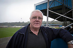 The home club's vice-chairman Chris Woolfall, pictured at the Harry Williams Riverside Stadium, home to Ramsbottom United as they played Barwell in a Northern Premier League premier division match. This was the club's 13th league game of the season and they were still to record their first victory following a 3-1 defeat, watched by a crowd of 176. Rams bottom United were formed by Harry Williams, the current chairman, in 1966 and progressed from local amateur football  in Bury to the semi-professional leagues.