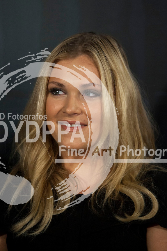 """The actress Eliza Taylor attends the fan event of the tv shows ARROW and THE 100, at the """"ATRESMEDIA CAFE""""   in Madrid, Spain. Jun 9, 2014. Photo by Nacho lopez/ DyD Fotografos-DYDPPA"""
