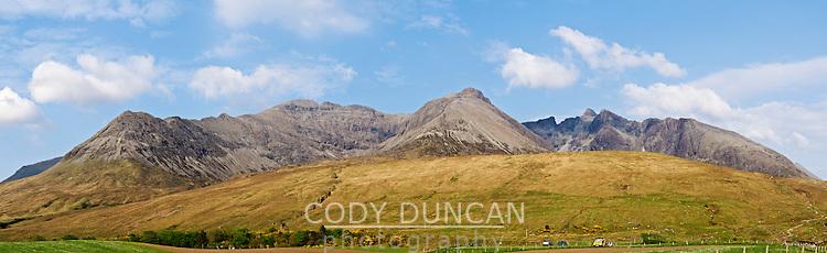 View of Cuillin ridge as seen from Glenbrittle, Isle of Skye, Scotland
